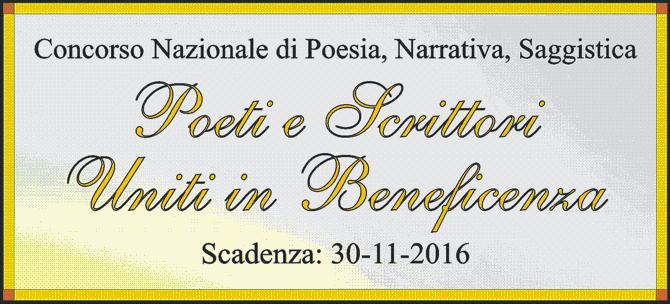 Concorso Letterario: Poeti e Scrittori Uniti in Beneficenza